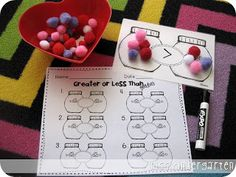 Miss Kindergarten: Greater or Less Than Goodies {math center}