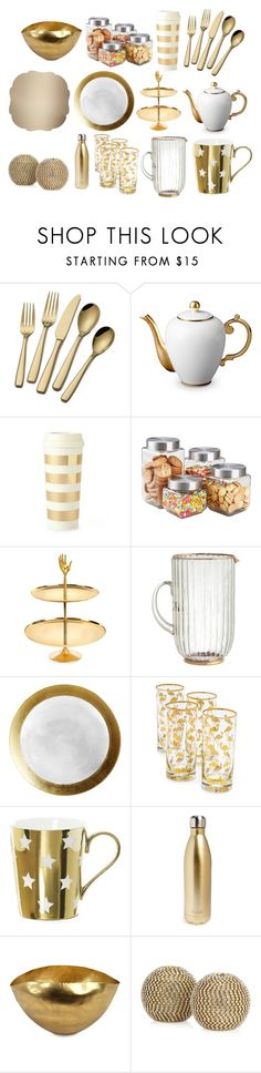 """""""Dream Dining"""" by unicorn1019 ❤ liked on Polyvore featuring L'Objet, Kate Spade, Home Basics, Jonathan Adler, Pier 1 Imports, S'well, Tom Dixon and Kim Seybert"""
