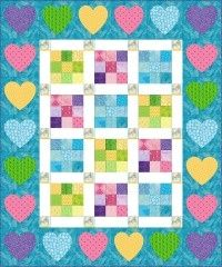 Week 2: Nine Patch Delight. A very cute quilt for a babies bed. Simple applique patterns included for you to add to your border if you choose. View my quilt top made from this pattern at the bottom of the page. Allaboutquilts.