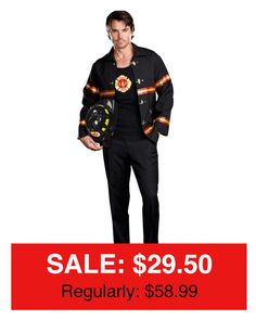 The weather may soon start cooling down, but this Fireman Costume is on FIRE!!! Check out this costume and thousands of others for 50-70% off at your Halloween Headquarters! #halloweeninseptember #partyimpressions #halloweenheadquarters