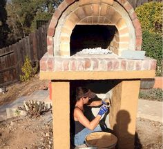 Pizza ovens are expensive! Save hundreds on your brick oven with a low-cost and DIY-EZ outdoor pizza oven. Our pizza oven kits & plans save you money! Pizza Oven Kits, Wood Fired Pizza, Concrete Blocks, Birthday Presents, Firewood, Garden Ideas, Brick, Diy Projects, California