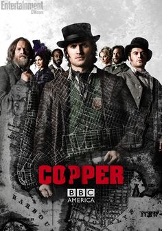 This great show only lasted two seasons. I think the first season is on Netflix now and you can probably see it on BBC America too. Copper Tv Series, Movies Showing, Movies And Tv Shows, Tom Weston Jones, Anastasia Griffith, Morning Songs, Netflix, Bbc Tv, Bbc America
