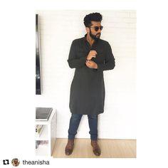#Repost @theanisha (@get_repost) ・・・ Lucknow vibes! @arjunkapoor in @kunalrawaldstress kurta, @diesel jeans, @zara boots and @st