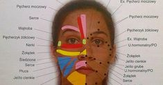 Objawy chorób wypisane na twarzy. Refleksologia twarzy. Massage Tips, Reflexology, Body And Soul, Medicine, Health Fitness, Lips, Personal Care, Pure Products, Healthy