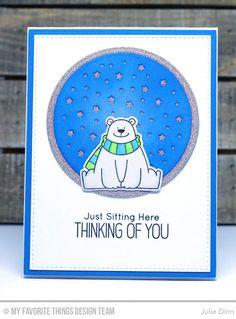 Polar Bear Pals Stamp Set and Die-namics, Starry Circle Die-namics, Circle STAX Set 1 Die-namics, Blueprints 2 Die-namics, Blueprints 24 Die-namics - Julie Dinn #mftstamps