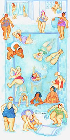 bathing.quenalbertini: Diving Divas by Barbara Lavallee
