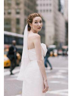 Sweet Strapless Natural Floor Length Satin Pink Sleeveless Wedding Dress with Bowknot LWZF1501C #weddingdress #landybridal