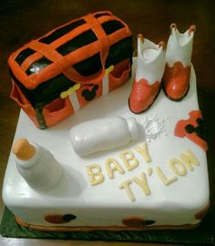 Welcome baby Ty'lon!! Cowboy Mickey mouse baby shower cake!!!