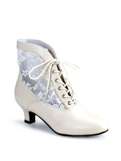 Show off your delightful period style even in your footwear with the addition of these kitten heel boots to your look! The Victorian Lace Ankle Booties curve slightly over the ankle before dropping down into a low, heel. Lace Ankle Boots, Ankle Booties, Shoe Boots, Women's Boots, Brown Boots, Lace Booties, Bootie Boots, Beige Boots, Girl Boots