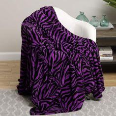 Ben&Jonah Designer Plush Queen inch x 86 inch ) Zebra Microplush Blanket - Purple Purple Zebra, Soft Purple, Online Bedding Stores, Comfy Blankets, Bed Blankets, Girls Fleece, Queen Size, King Size, Zebra Print