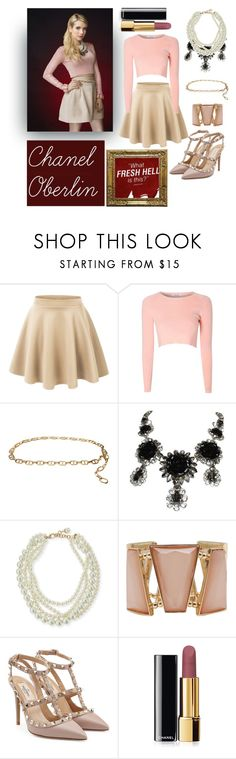 """Chanel Oberlin Costume - Scream Queens"" by victoria-chinchilla-arques ❤ liked on Polyvore featuring LE3NO, Glamorous, MICHAEL Michael Kors, Philippe Ferrandis, Lulu Frost, M&Co, Valentino and Chanel"