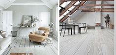 Tendencia: suelos de madera en color blanco - http://www.decoora.com/tendencia-suelos-madera-color-blanco/