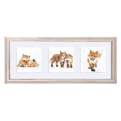 FT013|A Trio of Fox Cubs Framed Cards by Wrendale Designs
