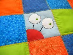 Don't Tell Quilts: Custom Order: Monsters Fun to have at least one of these little guys on a block somewhere on a kids quilt!