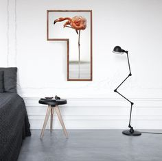 Flamingo Geometric Frames by  www.tictactasarim.com