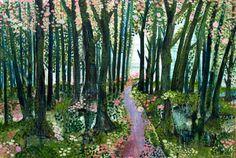 """Saatchi Art Artist: Yukari Kaihori; Oil 2010 Painting """"Mossy Woods"""""""