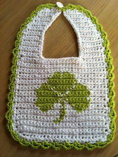 File Crochet Bib Shamrock Crochet Pattern - Very cute