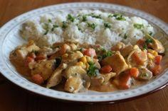 Kuřecí omáčka se zeleninou a žampiony Potato Salad, Food And Drink, Potatoes, Snacks, Meals, Chicken, Cooking, Ethnic Recipes, Diet