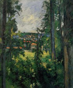 Auvers. View from Nearby via Paul Cezanne Medium: oil on canvas