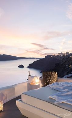 Santorini sunsets. Hotel Kirini Suites & Spa. Oia, Greece
