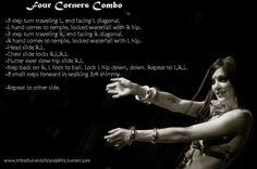 Four Corner Combo. #bellydance #practice ideas