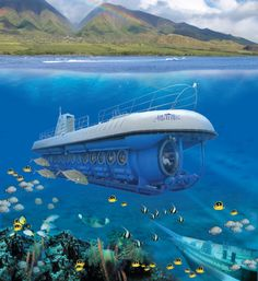 The Atlantis Submarine Dive at Lahaina, is another way to see Hawaii from underwater — but this one lets you stay dry! First you'll head out on a boat ride along the breathtaking Maui coastline. Once you arrive at the site you will transfer to the world's most technologically advanced passenger submarine. You'll descend to depths of 125 feet, witnessing this watery world through two-foot viewports and admiring the variety of exotic tropical fish and other fascinating marine life.
