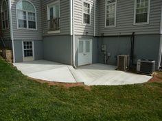 Delicieux Concrete Patio In Herndon, Virginia.