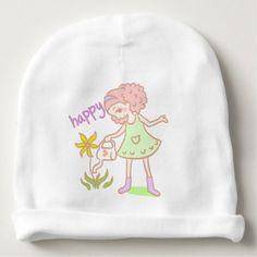#cute #baby #beanies #babybeanies - #'Like Mandy' Character for Baby Girls Baby Beanie