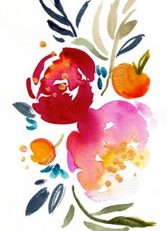 Prints: - Printed with archival inks on Canon Pro Luster Paper - 255 gsm or German Etching Paper - 330 gsm - There is a white border around the edges of the print for easier framing. All prints are pa Mais Watercolor Paintings Abstract, Watercolor Cards, Watercolor Illustration, Watercolor Flowers, Watercolors, Watercolor Ideas, Gouache, Diy Art, Flower Art