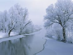 Winter Ice Lake Scenes Desktop Wallpaper