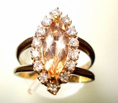 Vintage Yellow Topaz Ring  ... because it's my birthstone