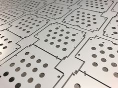 Great example of CNC punching to produce sheet metal blanks for fan heater units Types Of Sheet Metal, Sheet Metal Work, Plasma Cutting, Metal Working, Cnc, Sheet Metal Shop, Metalworking