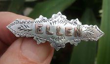 Vintage Sterling Silver & Gold Name Brooch hallmarked Birmingham 1925 - ELLEN
