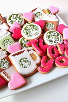 Sweeten your day.: Starbuckscoffee icing cookies