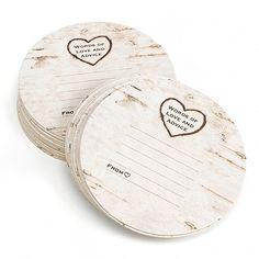 Birch Tree Advice Coasters I Super sweet personalized keepsake!