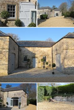 The 18th century Coach House at Pennard House, Somerset. Love the idea of a terrace/courtyard!