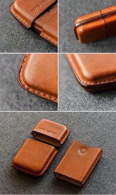 f3841df36793 Handmade Black Leather Mens 11pcs Cigarette Holder Case Cool Custom Ci –  iChainWallets