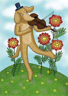 Hegedülő kutya