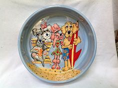 Golden Retriever 8 Ceramic Dog Bowl for Food or Water Personalized at no Charge Signed by Artist Debby Carman >>> Check out the image by visiting the link.