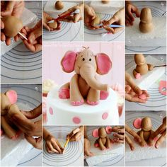 1 million+ Stunning Free Images to Use Anywhere Fondant Figures, Fondant Cake Toppers, Fondant Icing, Cake Topper Tutorial, Fondant Tutorial, Fondant Elephant Tutorial, Cake Decorating Techniques, Cake Decorating Tutorials, Decors Pate A Sucre