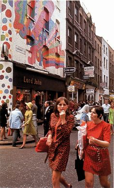 Shopping. In Carnaby Street. Like it's 1967.