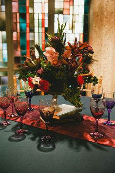 Shannon's DIY Centerpieces || Photo: Shaina Sheaff Photo