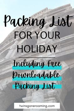 To ensure you don't forget anything on your next trip away check out this packing checklist which will make packing for your trip a whole lot easier! Including a free downloadable packing list. #packingchecklist #packinglistessentials #travel