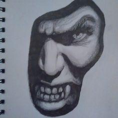 Vampire lurking in the shadows sketch