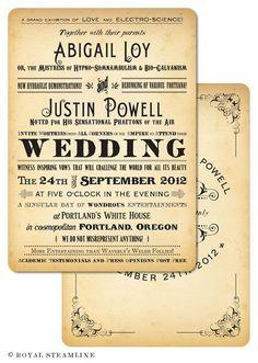 Steampunk Wedding Invite.