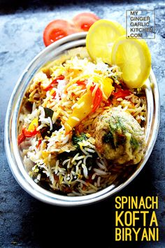 SPINACH KOFTA BIRYANI [VEGETARIAN RECIPE]