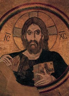 1. Christ Pantocrator  2. unknown   3. in the Central Dome of the Church of Dormition c.867-1204  4. mosiac  5.  Daphni, Greece  6.  Daphni, Greece  7. none  8. Christ depicted as the ruler of the world influenced by the new testament  9. yes  10. unknown