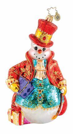Christopher Radko Christmas Ornament - Fancy Fella