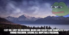 losing all hope was freedom