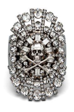 parure crystal skull & crossbones cuff tom binns s/s2012 forward  http://www.creativeboysclub.com/  http://www.creativeboysclub.com/wall/creative
